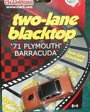 "ERTL/RC2 1971 PLYMOUTH BARRACUDA ""2 LANE BLACKTOP"" MOVIE CAR 1/64"
