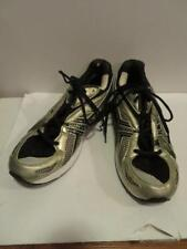 MENS ASICS BLACK/SILVER LEATHER SNEAKERS SZ 12 *