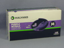 Halyard #55082 Purple Nitrile Exam Gloves Powder Free Size M - Box of 100 NEW