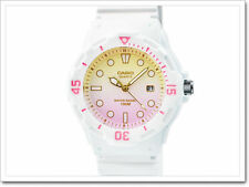 LRW-200H-4E2 White Pink Casio Ladies Watches 100M Date Display Analog Brand New