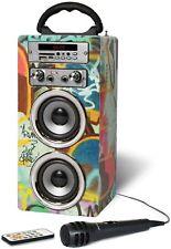 Bluetooth Karaoke Machine Portable With Microphone Speaker Songs MP3 FM Radio