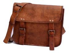 HANDMADE Genuine Brown Leather Vintage Retro Men's Laptop I pad MESSENGER BAG