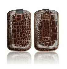 ★ HOUSSE ETUI POCHETTE ★★ CROCO  ★★ IPHONE 4 4S ★★ MARRON Brown Case