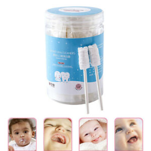 30PC Baby Tongue Cleaner Disposable Gauze Toothbrush Paper Rod Oral Stick Kit US