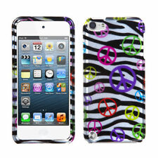 For Apple iPod Touch 5 5th gen HARD Protector Case Snap On Cover Peace Zebra