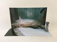 Custom Vintage Star Wars ROTJ Dagobah diorama fond