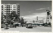 s13261 Sabana Grande gas station cars bus, Caracas, Venezuela RP postcard