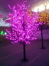 LED Christmas artificial cherry blossom tree light 6.5ft height 1152LEDs purple