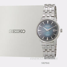 Authentic Men's Seiko Presage Automatic Cocktail Stainless Steel Watch SRPB41