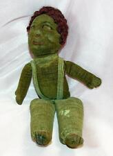VERY EARLY 1920S VTG ANTIQUE NORAH WELLINGS BLACK ETHNIC CLOTH DOLL W CLOTH FACE