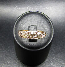 VINTAGE 18ct GOLD cinque Pietra graduato anello di diamanti dimensione N 3.8g 1.5ct Diamanti
