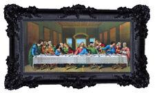 Image Sainte Jésus 12 Apôtre le Cène Icônes Antique Baroque Noir 96x57 CM