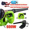 2020 Electric Handheld Leaf Blower Lawn Yard Suction Sweeper Vacuum Bag Good
