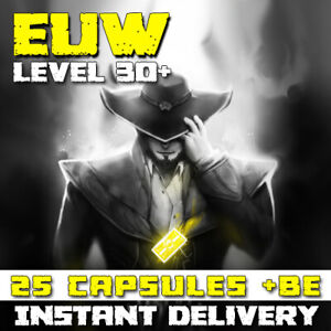 League of Legends LoL EUW Account 25 Capsules BE IP Unranked Level 30 PC