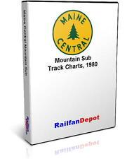 Maine Central Railroad Track Chart Mountain Sub 1980 - PDF on CD - RailfanDepot