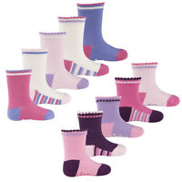 Tick Tock Baby Girls Cotton Rich Grippy Socks