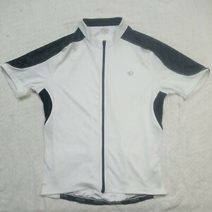 Pearl Izumi Select White Full Zip Size Large Bicycle Jersey