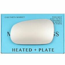Left side Wing mirror glass for Rover 600 93-99 heated + plate (elec. adj.)