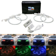 Xenon Headlight RGB Multi-Color LED Angel Eyes For BMW E38 E39 E46 3 5 7 Series