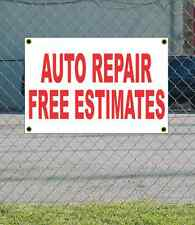 2x3 AUTO REPAIR FREE ESTIMATS Red & White Banner Sign NEW Discount Size & Price