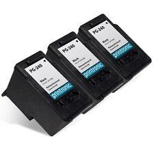 3 Pk Canon PG-240 Ink Cartridge PIXMA MX439 MX452 MX459 MX472 MX512 MX522 MX532