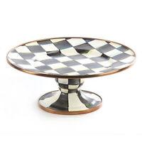MacKenzie-Childs Courtly Check Enamel Pedestal Food Service Ware Platter - Mini