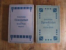 Antik Gustav Ploetz Französisches Elementarbuch 1910 & Sprachlehre 1911 K0061