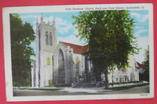 VTG FIRST CHRISTIAN CHURCH-SIXTH & COOK STREETS POSTCARD-SPRINGFIELD ILLINOIS