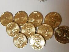 10 Coins: 2007 D Thomas Jefferson Presidential Dollars Uncirculated! Denver Mint