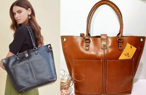 $299 NWT Patricia Nash Leather Marseille Grommet Brown Smooth Leather Tote Bag