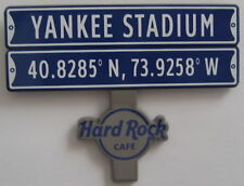 Hard Rock Cafe Yankee Stadium, New York Street Sign Series Pin 2017 - Sold out