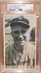 1936 Goudey Premuims Type 1  Walter Berger    PSA 2  only 2 higher