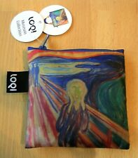 EDVARD MUNCH LOQI Eco Reusable Fold Up Shopping Tote Bag & Pouch (Fast Postage