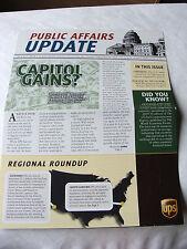 United Parcel Service UPS Public Affairs Update Summer 2010 political memorabi