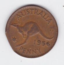 1956 Kangaroo Penny Coin Australia Bitten Edge Error variety L-430