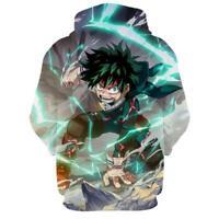 Anime My Hero Academia Hoodie Izuku Midoriya Cosplay Sweatshirt Pullover Jacket