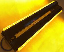 DOUBLE SIDE 108W LED WORK LIGHT BAR BEACON WARNING STROBE LIGHT AMBER 12V/24V