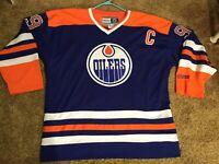 WOW! WAYNE GRETZKY Heros of Hockey CCM Jersey Edmonton Oilers #99 Size XL NICE!
