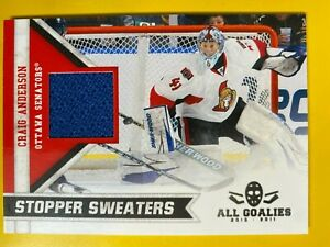 D55690  2010-11 Panini All Goalies Stopper Sweaters #6 Craig Anderson