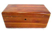 "Lane Cedar Jewelry Box Hope Chest Vintage 9"" x 4.25"" x 4"" Kaufman Furniture"