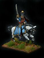 Napoleonic French 5th Hussars colonel  Painted metal 28mm