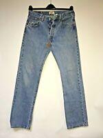 Levi's 501's jeans Straight leg Distressed Faded Hippie Boho Hobo Denim 32x33