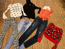 Girls Clothing lot-Jeans, Long Sleeve Tops & Sweaters-Justice H&M Size 10