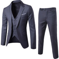 Men's Formal Suit 3 pieces Jacket Pant Vest Business Party Wedding Blazers Dress
