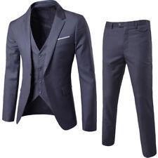 Men's Formal Suit 3 pieces Jacket Pant Vest Business Party Wedding Blazers Dress