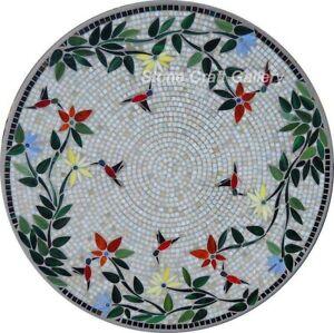 30'' Marble coffee Table Top Mosaic inlay art pietradura handmade Work Decor