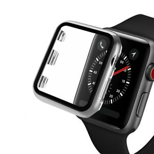 3D 9H Tempered Glass Cover For Apple Watch Series 6 5 4 3 Screen Protector Case