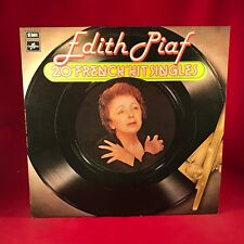 """EDITH PIAF 20 """"French"""" Hit Singles 1968 UK Vinyl LP EXCELLENT CONDITION best of"""