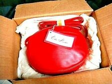 Vtg Employee Very Rare Red Leather Crossbody Purse Handbag in EL Shipper Box-NIB