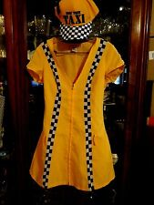 HALLOWEEN COSTUME FAB New York City Taxi Sexy S XS Yellow Black Driver's Hat